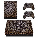Beautiful Flower Design xbox one X skin decal for console and 2 controllers