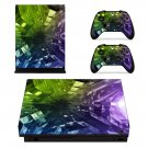 Futuristic Abstract Pattern xbox one X skin decal for console and 2 controllers