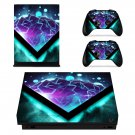 Abstract Pattern xbox one X skin decal for console and 2 controllers