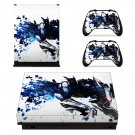 Mecha xbox one X skin decal for console and 2 controllers