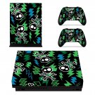 Skulls With Bolt xbox one X skin decal for console and 2 controllers