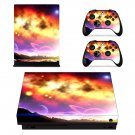 Galaxy and plane View xbox one X skin decal for console and 2 controllers