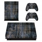 Rusted and Dirty Wooden Texture xbox one X skin decal for console and 2 controllers