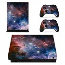Milky Way With Stars xbox one X skin decal for console and 2 controllers