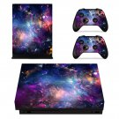 Fantastic Cosmos View xbox one X skin decal for console and 2 controllers
