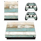 Scrapy wood Pattern xbox one X skin decal for console and 2 controllers