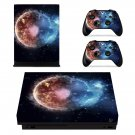 Burning Planet xbox one X skin decal for console and 2 controllers
