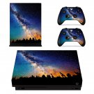Galaxy with Nature View xbox one X skin decal for console and 2 controllers