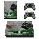 Pollution masked xbox one X skin decal for console and 2 controllers