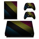 Multicolor Doted Design xbox one X skin decal for console and 2 controllers