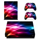 Abstract Gradient Pattern xbox one X skin decal for console and 2 controllers