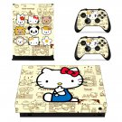 Hello Kitty xbox one X skin decal for console and 2 controllers