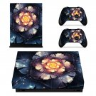 Brighting Camellia Flower xbox one X skin decal for console and 2 controllers