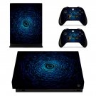 Geometric Pattern Design xbox one X skin decal for console and 2 controllers