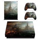 Warhammer 40k hive city Design xbox one X skin decal for console and 2 controllers