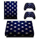Patriotic USA Flag Seamless Pattern Design xbox one X skin decal for console and 2 controllers