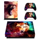 Roaring Lion Design xbox one X skin decal for console and 2 controllers