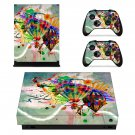 Hot air balloon color splash Painting xbox one X skin decal for console and 2 controllers