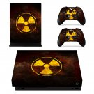 Radioactive logo xbox one X skin decal for console and 2 controllers