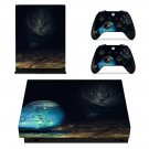 Cute cat xbox one X skin decal for console and 2 controllers