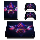 Futuristic Geometric Pattern xbox one X skin decal for console and 2 controllers