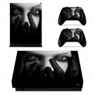 A Face in The Dark xbox one X skin decal for console and 2 controllers