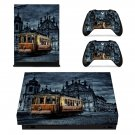 City Tram xbox one X skin decal for console and 2 controllers
