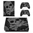 Custom Skull Design xbox one X skin decal for console and 2 controllers
