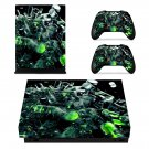 3D Abstract Design xbox one X skin decal for console and 2 controllers
