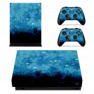 Beautiful Design xbox one X skin decal for console and 2 controllers