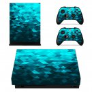 Blue Prizma Effect xbox one X skin decal for console and 2 controllers