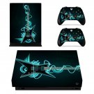 Electrict Guiter xbox one X skin decal for console and 2 controllers
