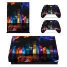 Custom 3d Design xbox one X skin decal for console and 2 controllers