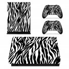 Zebra pattern xbox one X skin decal for console and 2 controllers