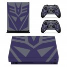 Transformer Megatron 1975 xbox one X skin decal for console and 2 controllers