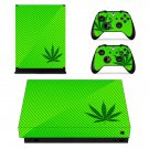 Weed Leaf xbox one X skin decal for console and 2 controllers