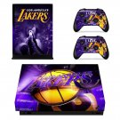 Los Angeles Lakers xbox one X skin decal for console and 2 controllers