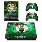 Boston Celtics xbox one X skin decal for console and 2 controllers