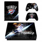 Oklahoma City Thunder xbox one X skin decal for console and 2 controllers