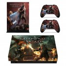 Shadow of War xbox one X skin decal for console and 2 controllers