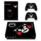 Kumamon xbox one X skin decal for console and 2 controllers