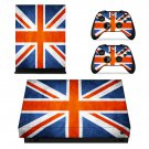 Flag of United Kingdom xbox one X skin decal for console and 2 controllers