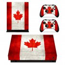 Flag of Canada xbox one X skin decal for console and 2 controllers