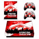 Spartak Moscow xbox one X skin decal for console and 2 controllers