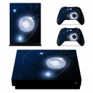 Bright Moon xbox one X skin decal for console and 2 controllers