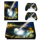 Bursting Moon xbox one X skin decal for console and 2 controllers