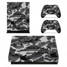 Woodland Camouflage xbox one X skin decal for console and 2 controllers
