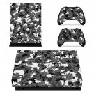 Military Camouflage xbox one X skin decal for console and 2 controllers