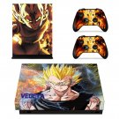 Goku xbox one X skin decal for console and 2 controllers