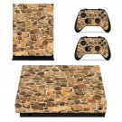 Pied Stone Wall xbox one X skin decal for console and 2 controllers
